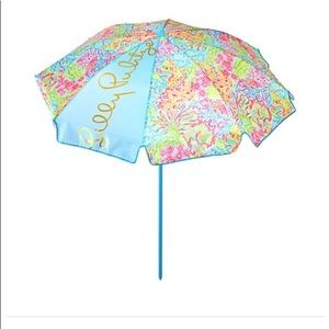 Lilly Pulitzer GWP Lovers Coral Beach Umbrella